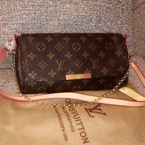 New Brown Tan Logo Print Favorite Handbag